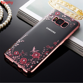 Ultra Thin Red Flower Crystal Clear Case