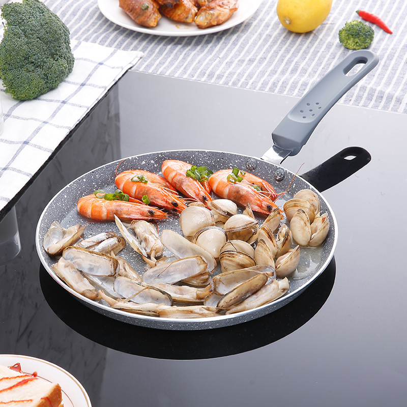 YiHAO 8 inch pizza plate Pans4cm low frying pan pan no sticky pot Melaleuca cake bachelor pot pancakes pan