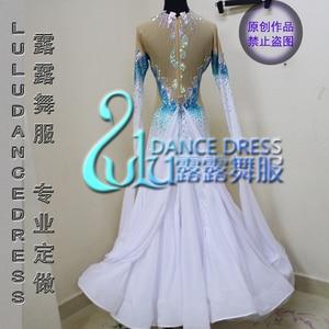 Image 2 - Nữ swing tango waltz Mịn mỹ 6 dance dress tay áo