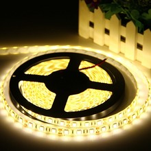 LED Strip 5050 DC12V 60LEDs/m Flexible LED Tape Light Indoor Outdoor LED Ribbon Tape Strip 300LEDs 5m/lot(China)