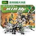 911 unids Bloques Huecos de Phantom Ninja Figuras Accion Epica Batalla Del Dragón Nuevo Modelo Minifiguras Juguetes Compatibles