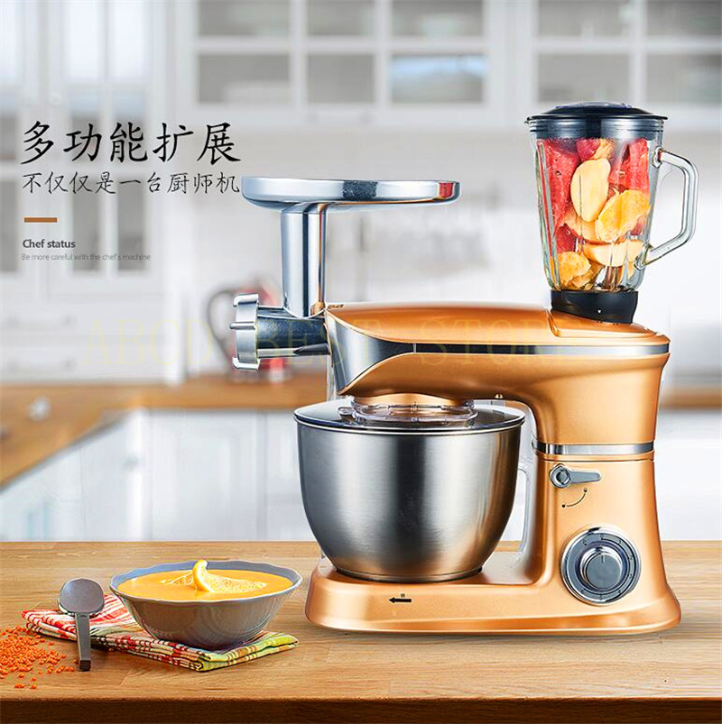 18 Electric Dough Mixer Professional Eggs Blender 6.5L Kitchen Stand Food Milkshake/Cake Mixer Kneading Machine Dough Maker