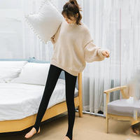 Fashion Autumn Winter Girl High Waist Elasticity Good Quality Plus Velvet Thickening Pants Warm Leggings