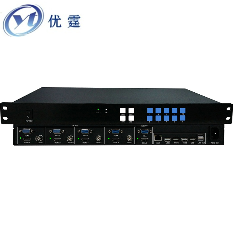 HDMI 4x1 Multi-Viewer with PIP The FOUR HDMI VGA CVBS switcher seamlessly not black screen with RS232 IR 1080P YT-HDS401