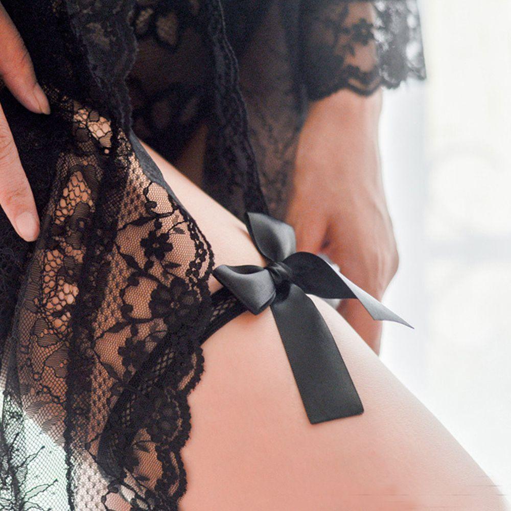 Lingerie Stocking-Accessories Garter Belt Leg-Ring Silk Black Sexy Womens Fashion Hollow