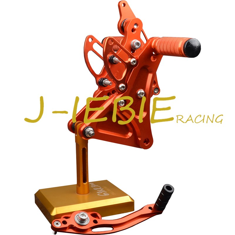 CNC Racing Rearset Adjustable Rear Sets Foot pegs Fit For Buell XB9 XB12 XB9R XB12R S ORANGE morais r the hundred foot journey