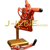 CNC Racing Rearset Adjustable Rear Sets Foot pegs Fit For Buell XB9 XB12 XB9R XB12R S ORANGE