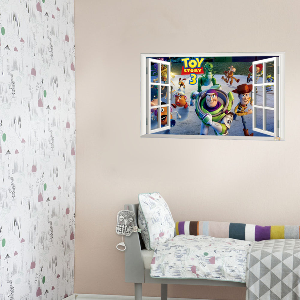 Best selling toy story 3 cartoon 3d window scenery wall decals best selling toy story 3 cartoon 3d window scenery wall decals sticker for kids rooms home nursery kids rooms decor 1403 in wall stickers from home garden amipublicfo Gallery