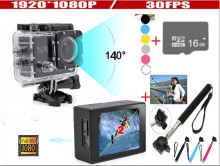 New 2017 W9 Action Camera 12MP Full HD digital camera 1080P 30FPS 2.0″LCD Diving 30M Waterproof sport DV