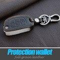 Натуральная Кожа Ключа Автомобиля Охватывает Случае Держатель Брелок Для Hyundai Motor Avante Портер Grandeur Соната Ix35 Santafe Флип Вислоухая Крышка