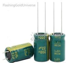 200v 22uf 22uf 200v   Electrolytic Capacitor  volume 10*16 best quality New origina