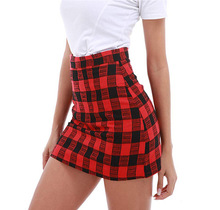 Womens girls plaid vintage skirt temperament sexy fashion bag hip A word high waist short mini 2019 women vestidos