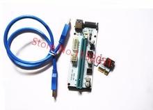 10pcs VER008S Molex 4Pin SATA 6PIN PCIE PCI-E PCI Express Riser Card Adapter 1X to 16X USB3.0 Extender BTC Mining Miner