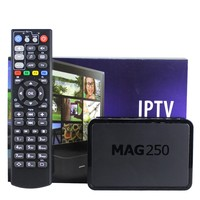 European Hot Sale Mag250 Linux System Iptv Set Top Box Without Iptv Account Flash Memory 256