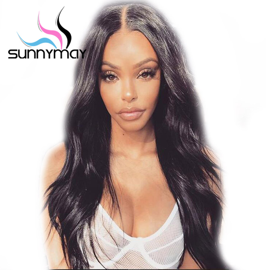Sunnymay Wavy Pre Plucked Full Lace Human Hair Wigs 150% Density Glueless Brazilian Remy Hair Full Lace Wig With Baby Hair