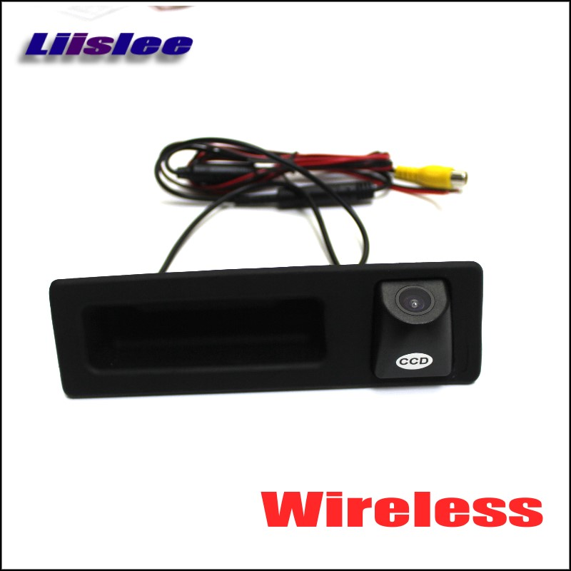 Liislee Wireless Car Rear View Camera For BMW 3 F30 F31 F34 / 330d Touring 2012~2015 / HD Back Up Reverse Camera / Trunk Handle стоимость