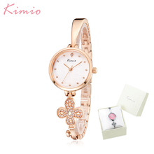 Kimio Luxury Brand Fashion Ladies Klockor Key Design Armband Klocka Klocka Kvarts Klockor Armbandsur Montre Femme Gift For Female