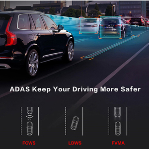 Image 3 - E ACE E14 Car DVRs 4G Android 8.0 Inch Dash Cam 1080P Video Recorder GPS Navigation ADAS Dashcam With Rear View Camera Auto Dvr