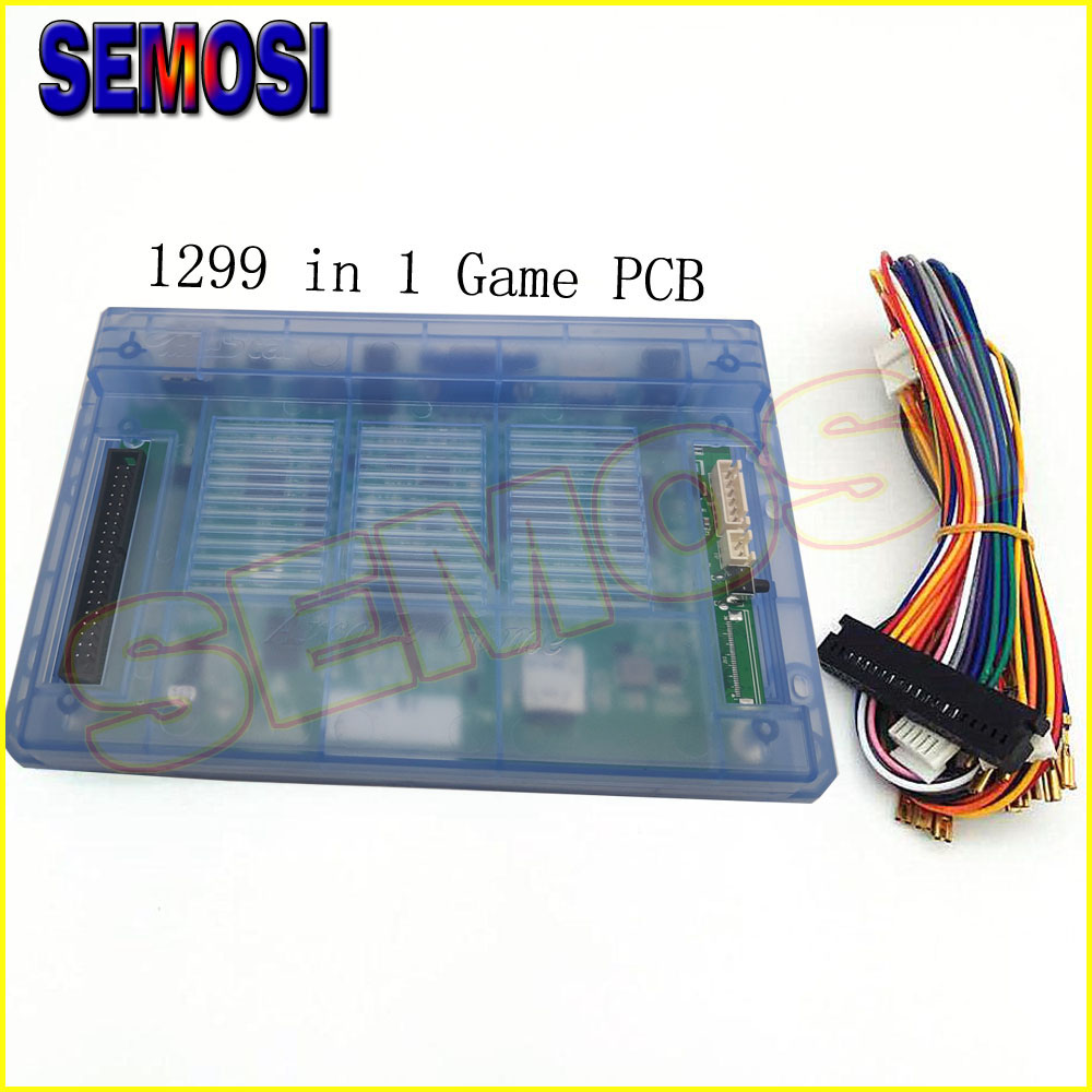 1299 in 1 Game Box 5s Plus PCB with Cable Home Version Arcade Cabinet with Pause