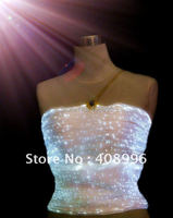 optical fiber luminous top for performance/Singular dress/Show Clothing