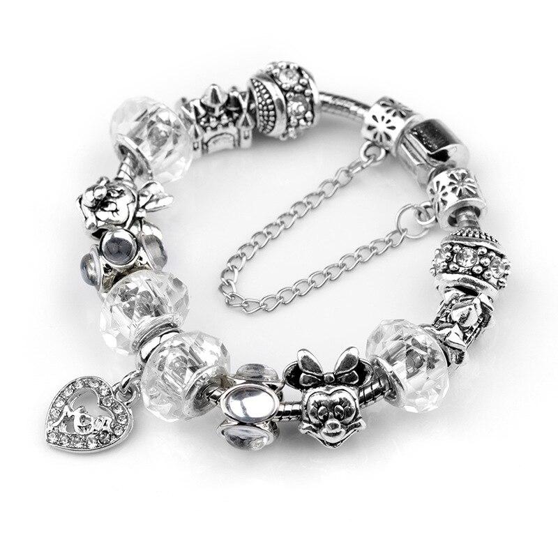 Mickey Mouse Charm Bracelet: Animal Mickey Mouse Charm Bracelets & Bangle For Women
