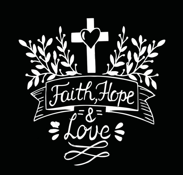 Hand Lettering Faith Hope And Love Bible Verse P O Backdrop Vinyl Cloth High Quality Computer Print Wall Background