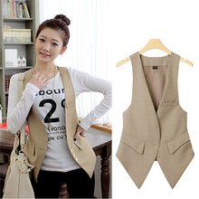 Plus Size Women Summer Vivi Star Same Style Suit Vest Femal Fashionable All Match Waistcoat Office Lady Professional Weskit