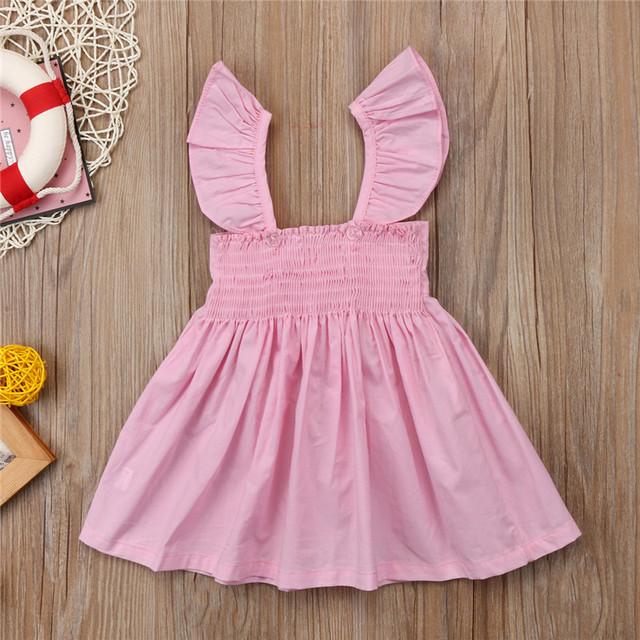 Sleeveless Ruffle Bowknot Kids Dress
