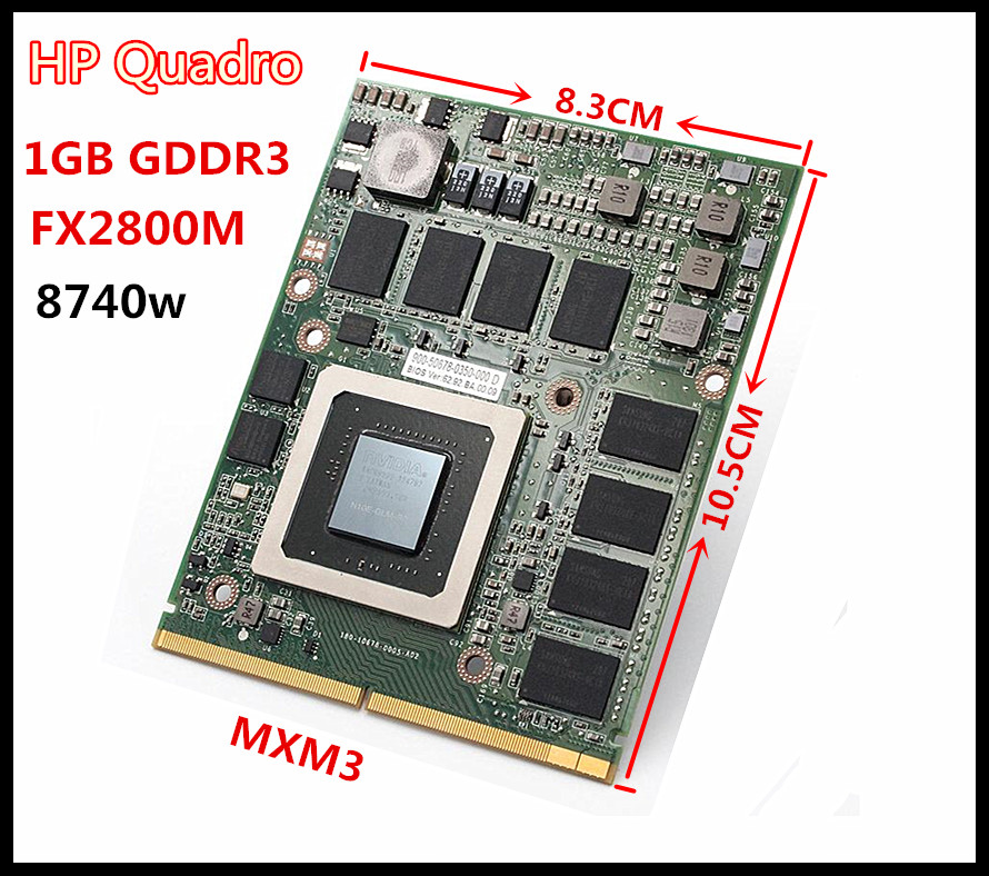 N10E-GLM-B2 Quadro FX2800M GDR3 1GB 8740W MXM3 Video Card  Professional Graphic Card