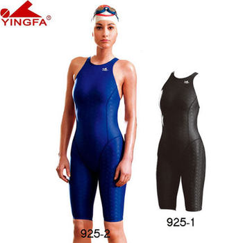 b98f3586e0fc Yingfa FINA aprobado una pieza competencia a la rodilla resistente al agua  cloro mujeres traje de ...