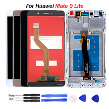 For Huawei MATE 9 lite Lcd Display 5.5 inch 1920*1080  GR5 201 Honor 6X Touch Screen Digitizer Assembly Frame With Free Tools 100% new 5 2 inch for huawei honor 5c lcd display with touch screen digitizer glass sensor assembly replacement 1920 1080