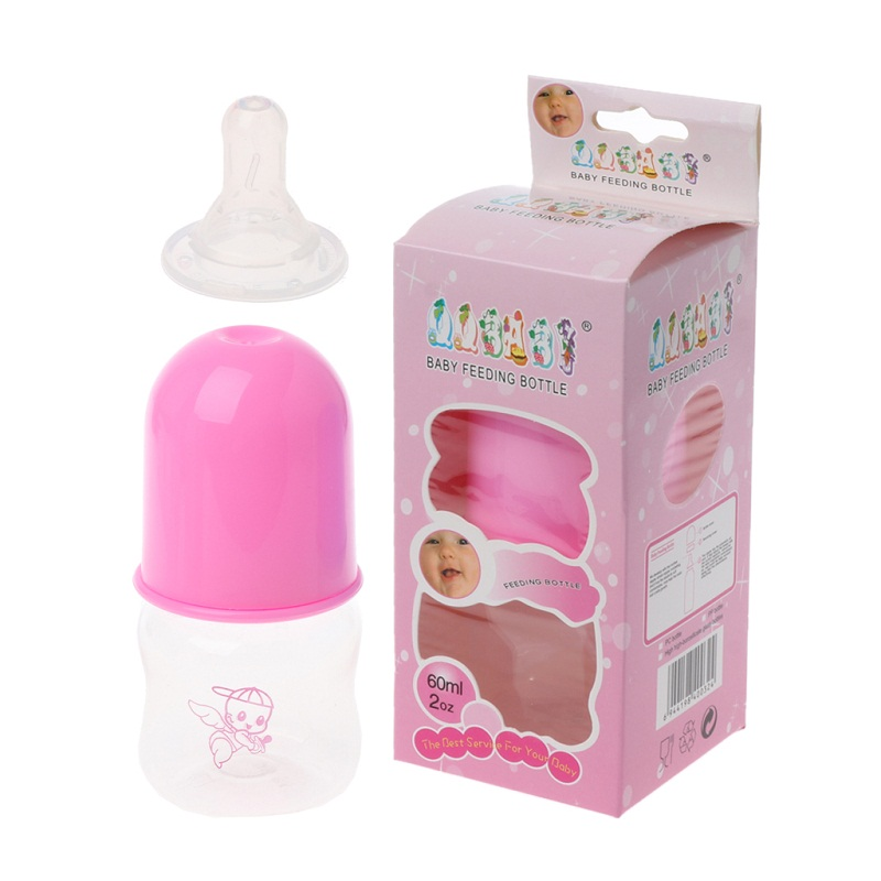 Lovely Baby Mini Portable Feeding BPA Free Safe Newborn Kids Nursing Care Feeder Fruit Juice Milk Bottles 60ML