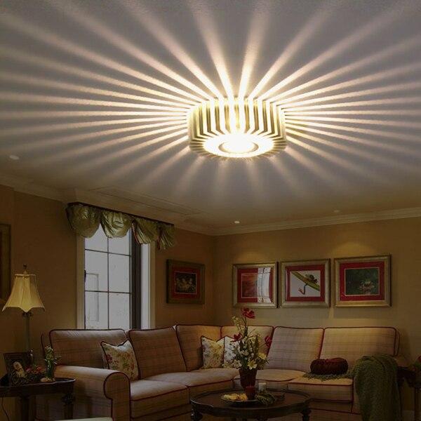 Decorative Wall Lamps aliexpress : buy silver 3w led wall lamps porch decor sun