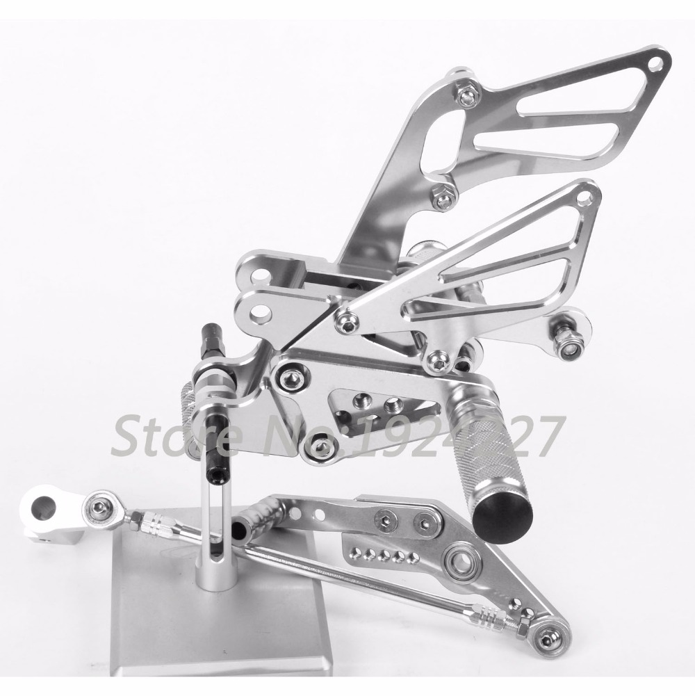 Motorcycle Footrest Adjustable Foot Pegs Rearsets For Honda CBR1000RR 2008-2013 Hot High-quality Motorcycle Foot Pegs Silver
