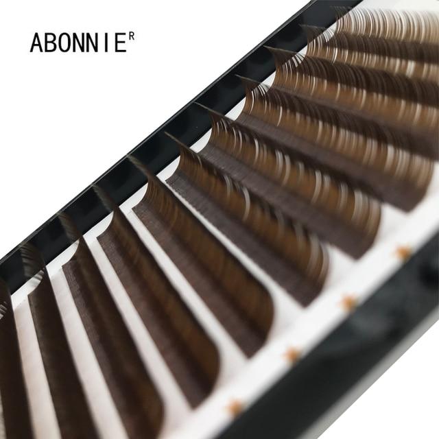 0.07/0.10 C D False Eyelashes Individual Eyelash Extension Color Fake Eye Lashes Mink Eyelash Extension 100% real Dark Brown 5