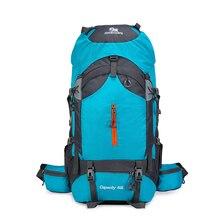 60L Climbing Backpack man women Outdoor bag nylon Waterproof hiking Rucksack Mountaineering Aluminum alloy External frame bags