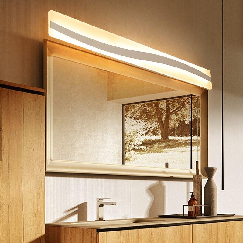 Moderne salle de bains/toilette LED avant miroir lumières salle de bains acrylique miroir lumières chambre 0.4 m-1.2 m 16W-24W-36W AC85-265V