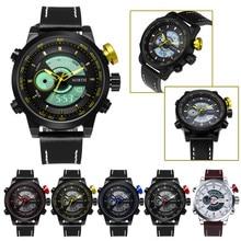watch men , North Brand Double Waterproof Movement Alarm Clock Quartz Wrist Watch Leather Sports Men Watch relogio masculino