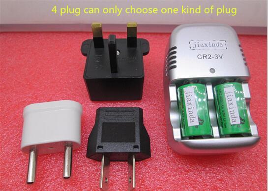 HOT NEW CR2 + ładowarka 800mah 15270 3v akumulator litowy wielokrotnego ładowania (2 baterie + 1 ładowarka) w Zamienne baterie od Elektronika użytkowa na title=