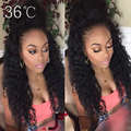 Deep Wave Lace Front Wig With Baby Hair Glueless Full Lace Human Hair Wigs For Black Women Peruvian Deep Wave Wig 30 Inch #1B