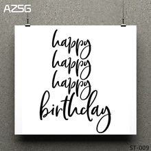 Birthday greeting/Blessing Clear Stamps/seal for DIY Scrapbooking/Card Making/Photo Album Decoration Supplies