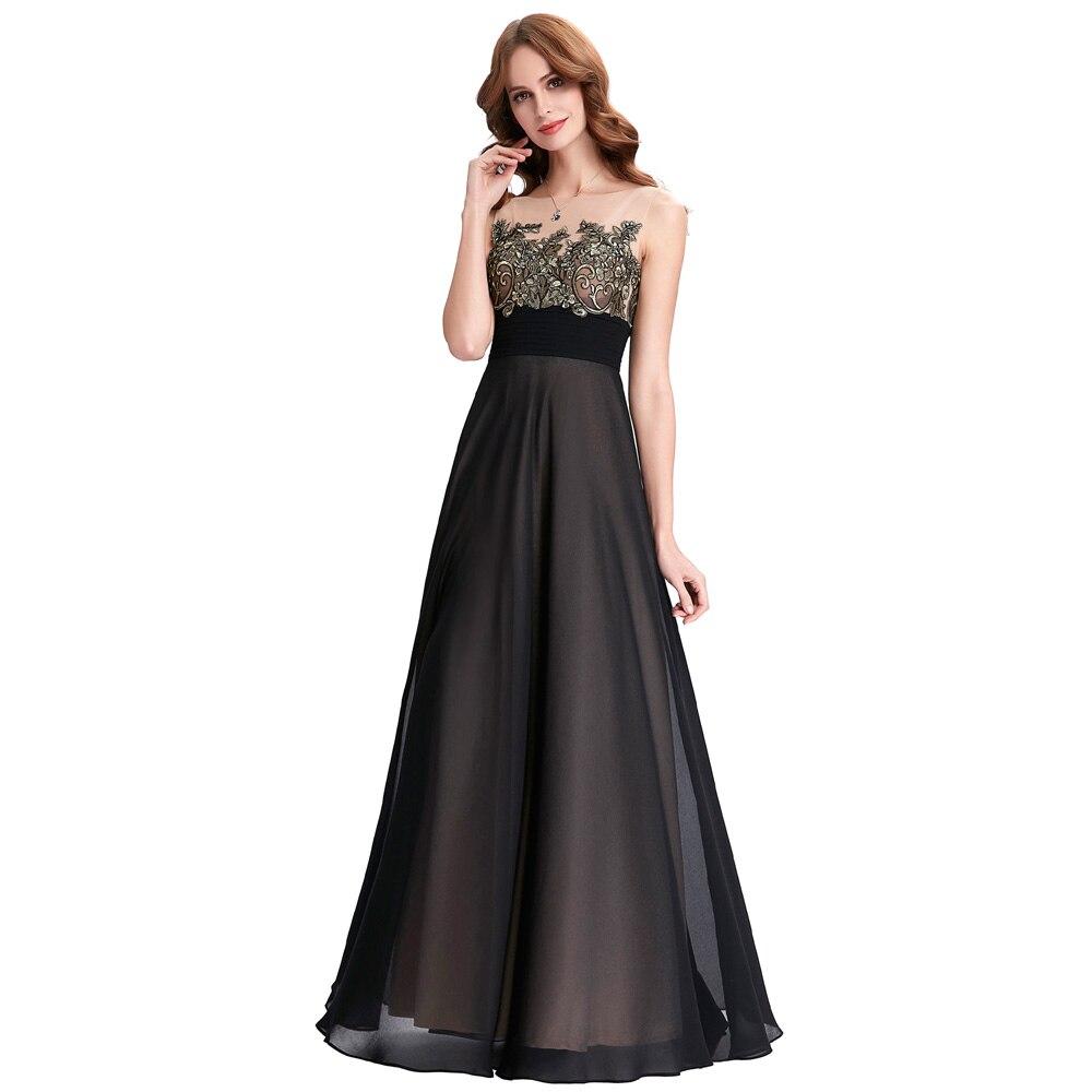 buy kate kasin black evening dresses long robe de soiree 2017 abiye lace. Black Bedroom Furniture Sets. Home Design Ideas