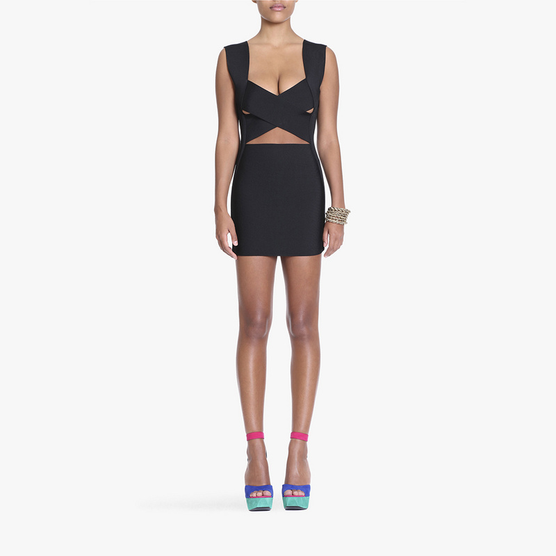 Herzhaft 2017 Sommer Neue Sexy Mode Schwarz Rost Cut Out Verband Kleid Cocktail Party Kleid Großhandel Kleid + Anzug Diversifiziert In Der Verpackung
