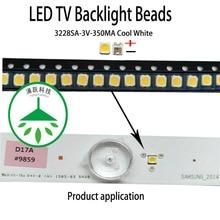 100Pcs/lot Maintenance of common tv backlight beads for led lcd tv 3228 3v 350ma cool white suitable for samsung skyworth screen tv 40 skyworth 40e2 fullhd smarttv