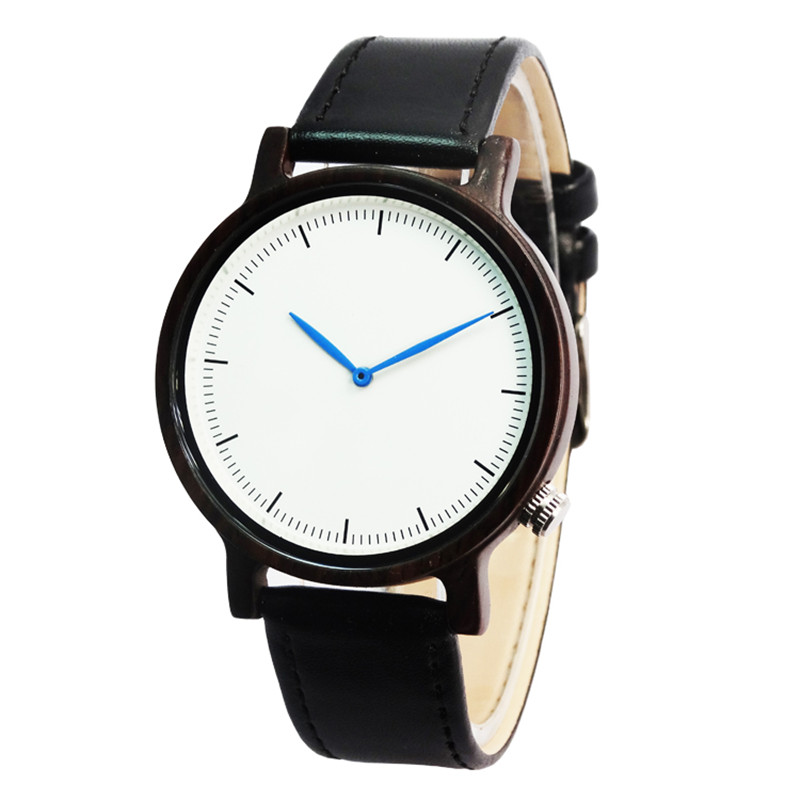 Mens Casual Wooden Watch Ladies Original Grain Wood Watches,Unisex in Black With Gift Box