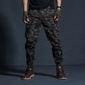Image 4 - זרוק משלוח 2020 סתיו טקטי גברים של מכנסיים מטען מזדמן רב כיס צבאי מכנסיים ארוך מכנסיים 29 38 AXP127