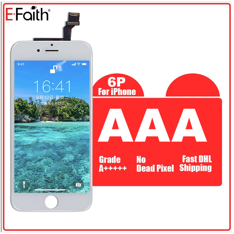 10 PCS LOT Black and White 5 5 inch For iPhone 6 Plus LCD Display with