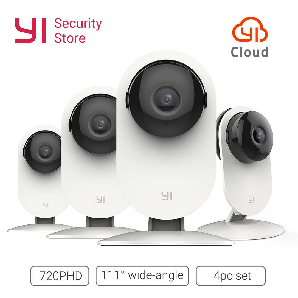 YI Home Camera 720P 4PC SET inalámbrico IP Cam sistema de vigilancia de seguridad visión nocturna interior Bebé Monitor YI Cloud WiFi GL