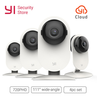 YI Home Camera 720P 4PC SET Wireless IP Cam Security Surveillance System Night Vision Indoor Baby Pet Monitor YI Cloud WiFi GL