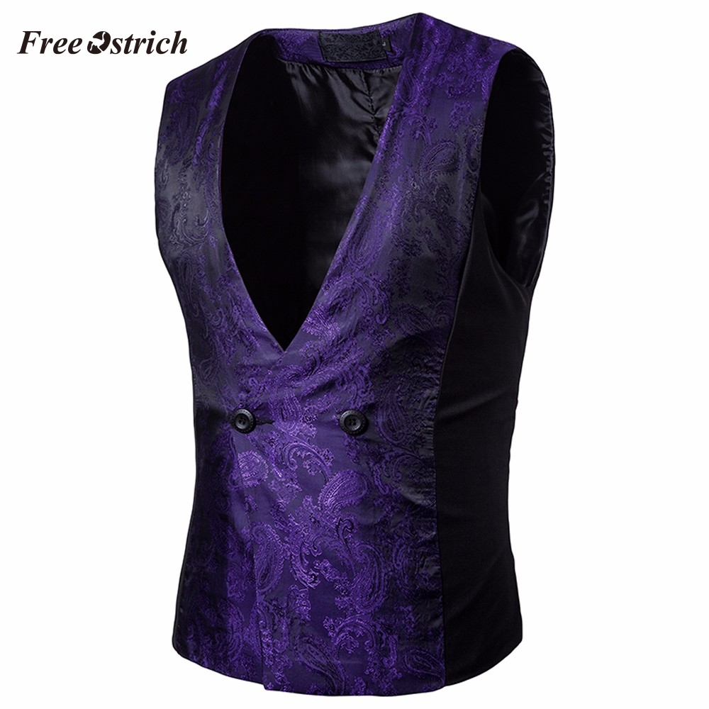 Vest Blazer Waistcoat Autumn Suits Business Single-Breasted Men's Cotton New Fashion